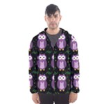Halloween purple owls pattern Hooded Wind Breaker (Men)