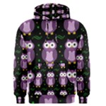 Halloween purple owls pattern Men s Pullover Hoodie