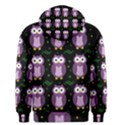 Halloween purple owls pattern Men s Pullover Hoodie View2