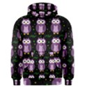 Halloween purple owls pattern Men s Zipper Hoodie View1