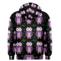 Halloween purple owls pattern Men s Zipper Hoodie View2