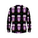 Halloween purple owls pattern Kids  Sweatshirt View2