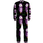 Halloween purple owls pattern OnePiece Jumpsuit (Men)