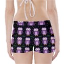 Halloween purple owls pattern Boyleg Bikini Wrap Bottoms View2