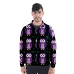Halloween purple owls pattern Wind Breaker (Men)