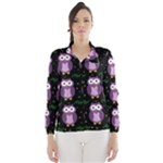 Halloween purple owls pattern Wind Breaker (Women)