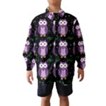 Halloween purple owls pattern Wind Breaker (Kids)
