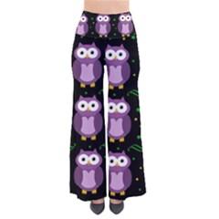 Halloween purple owls pattern Pants