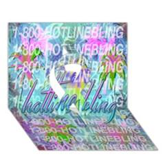 Drake 1 800 Hotline Bling Ribbon 3d Greeting Card (7x5) by Onesevenart