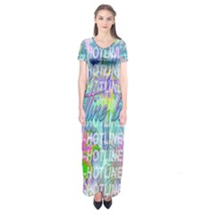 Drake 1 800 Hotline Bling Short Sleeve Maxi Dress by Onesevenart