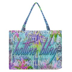 Drake 1 800 Hotline Bling Medium Zipper Tote Bag by Onesevenart