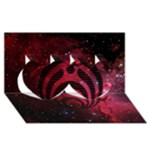 Bassnectar Galaxy Nebula Twin Hearts 3D Greeting Card (8x4)