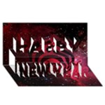 Bassnectar Galaxy Nebula Happy New Year 3D Greeting Card (8x4)