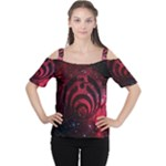Bassnectar Galaxy Nebula Women s Cutout Shoulder Tee