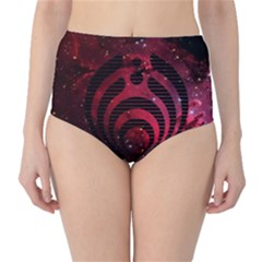 Bassnectar Galaxy Nebula High Waist Bikini Bottoms by Onesevenart