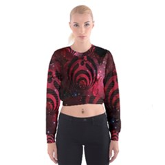 Bassnectar Galaxy Nebula Women s Cropped Sweatshirt by Onesevenart