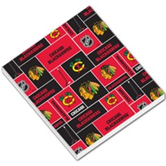 Chicago Blackhawks Nhl Block Fleece Fabric Small Memo Pads by Onesevenart