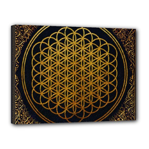 Bring Me The Horizon Cover Album Gold Canvas 16  X 12  by Onesevenart