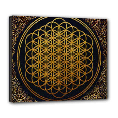 Bring Me The Horizon Cover Album Gold Deluxe Canvas 24  X 20   by Onesevenart
