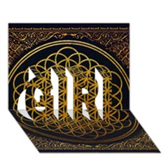 Bring Me The Horizon Cover Album Gold Girl 3d Greeting Card (7x5) by Onesevenart