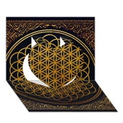 Bring Me The Horizon Cover Album Gold Heart 3d Greeting Card (7x5) by Onesevenart