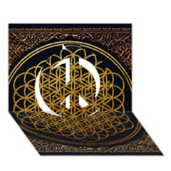Bring Me The Horizon Cover Album Gold Peace Sign 3d Greeting Card (7x5) by Onesevenart