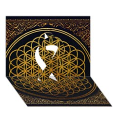 Bring Me The Horizon Cover Album Gold Ribbon 3d Greeting Card (7x5) by Onesevenart