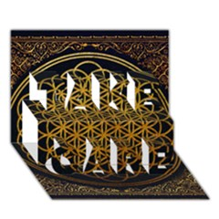 Bring Me The Horizon Cover Album Gold Take Care 3d Greeting Card (7x5) by Onesevenart
