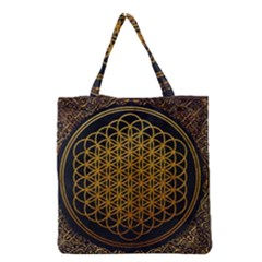 Bring Me The Horizon Cover Album Gold Grocery Tote Bag by Onesevenart
