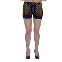 Bring Me The Horizon Cover Album Gold Skinny Shorts by Onesevenart