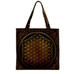 Bring Me The Horizon Cover Album Gold Zipper Grocery Tote Bag by Onesevenart