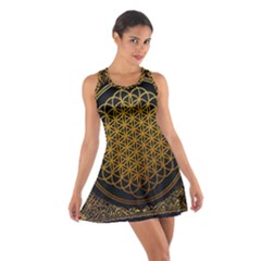 Bring Me The Horizon Cover Album Gold Cotton Racerback Dress by Onesevenart