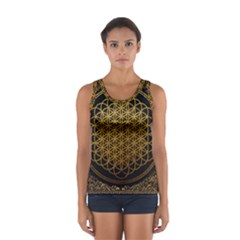 Bring Me The Horizon Cover Album Gold Women s Sport Tank Top  by Onesevenart
