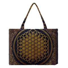 Bring Me The Horizon Cover Album Gold Medium Tote Bag by Onesevenart