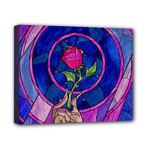 Enchanted Rose Stained Glass Canvas 10  X 8  by Onesevenart