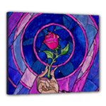 Enchanted Rose Stained Glass Canvas 24  x 20
