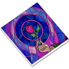 Enchanted Rose Stained Glass Small Memo Pads by Onesevenart
