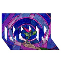 Enchanted Rose Stained Glass Mom 3d Greeting Card (8x4) by Onesevenart