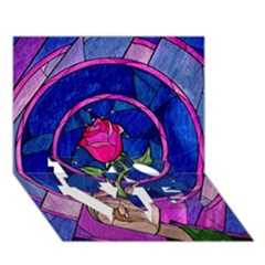 Enchanted Rose Stained Glass Love Bottom 3d Greeting Card (7x5) by Onesevenart