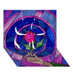 Enchanted Rose Stained Glass Clover 3D Greeting Card (7x5)