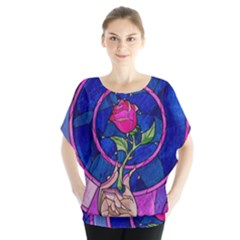 Enchanted Rose Stained Glass Blouse by Onesevenart