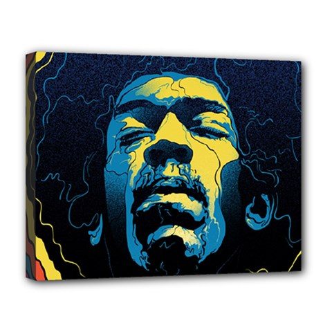 Gabz Jimi Hendrix Voodoo Child Poster Release From Dark Hall Mansion Canvas 14  X 11  by Onesevenart