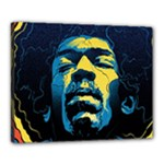 Gabz Jimi Hendrix Voodoo Child Poster Release From Dark Hall Mansion Canvas 20  x 16