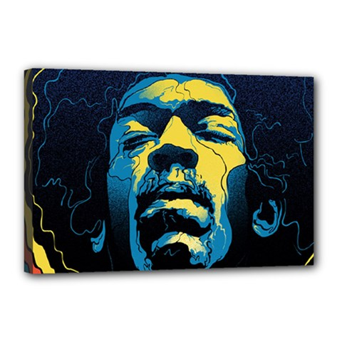 Gabz Jimi Hendrix Voodoo Child Poster Release From Dark Hall Mansion Canvas 18  X 12  by Onesevenart