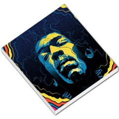 Gabz Jimi Hendrix Voodoo Child Poster Release From Dark Hall Mansion Small Memo Pads by Onesevenart