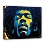Gabz Jimi Hendrix Voodoo Child Poster Release From Dark Hall Mansion Deluxe Canvas 24  x 20