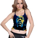 Gabz Jimi Hendrix Voodoo Child Poster Release From Dark Hall Mansion Spaghetti Strap Bra Top