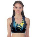 Gabz Jimi Hendrix Voodoo Child Poster Release From Dark Hall Mansion Sports Bra