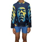Gabz Jimi Hendrix Voodoo Child Poster Release From Dark Hall Mansion Kids  Long Sleeve Swimwear