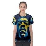 Gabz Jimi Hendrix Voodoo Child Poster Release From Dark Hall Mansion Women s Sport Mesh Tee